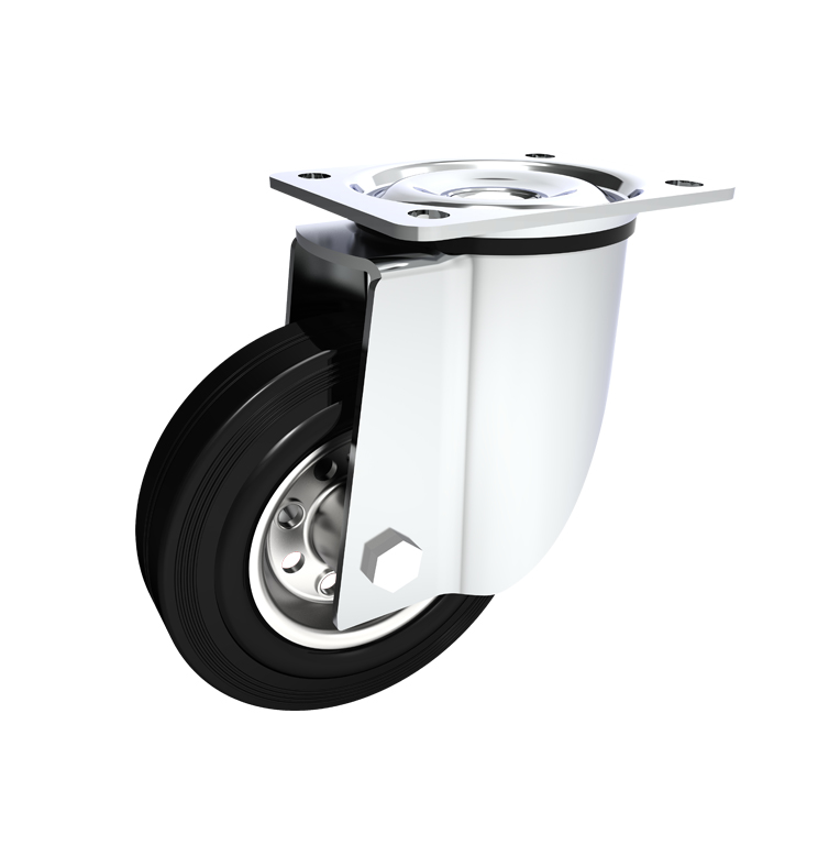 Comfort Castors Industrial-Black-Rubber-Castor-Swivel 100-499kg